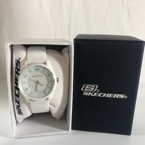 Skechers Sports Watch SR6165A Silicone White NEW